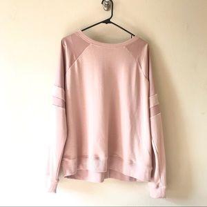 New Look Light Pink Sweatshirt Accent Sleeves 14
